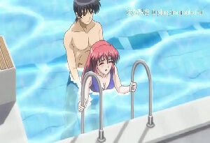 Hentai ruivinha levando rola na xota na piscina do clube