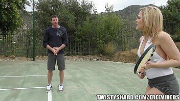 Loirona Alexis Texas metendo com professor de tênis dotado